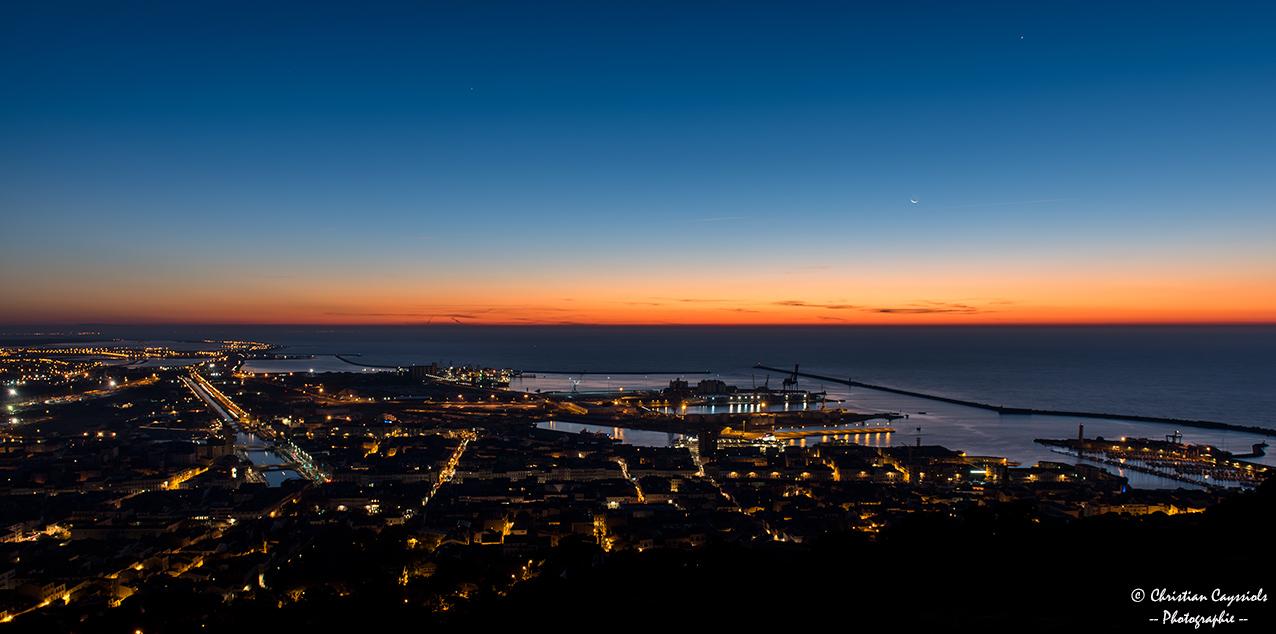 Sète : lever de soleil