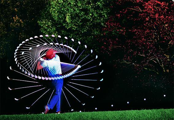 Le golfeur par michel hans